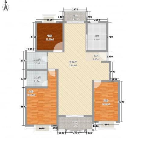 兰桥公寓北区别墅3室1厅2卫1厨185.00㎡户型图