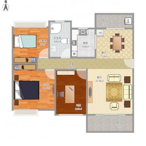 嘉宏公园1号3室1厅1卫1厨99.00㎡户型图