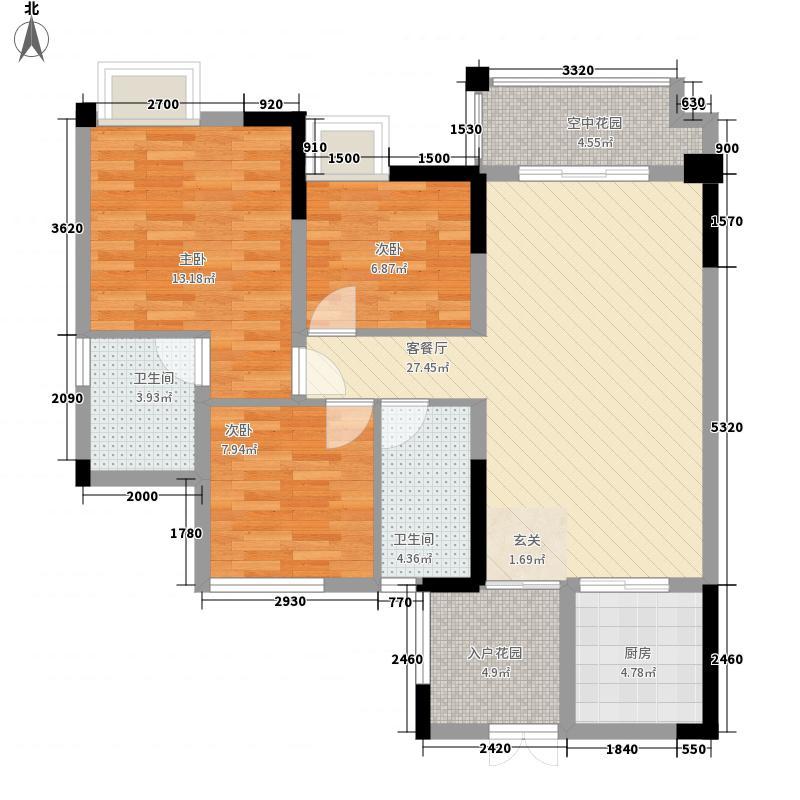 中迪国际社区101.43㎡中迪国际社区I栋户型E3室2厅2卫1厨101.43㎡户型3室2厅2卫1厨