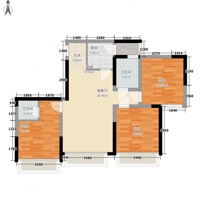 外滩星空2、3栋标准层C3户型