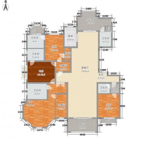 正商红河谷4室1厅5卫1厨215.16㎡户型图