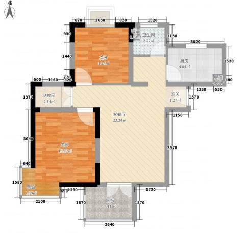 杨王村公寓2室1厅1卫1厨297.00㎡户型图