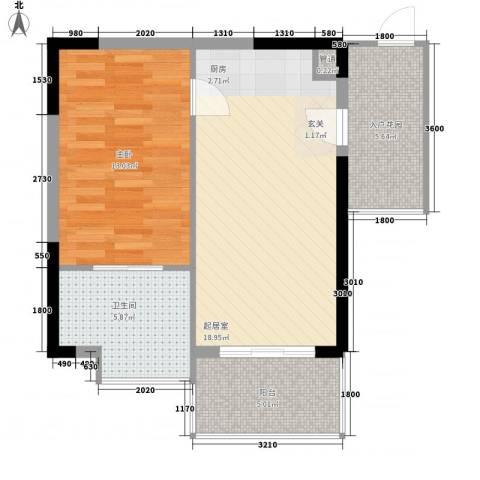 凤凰水城红树湾1室0厅1卫0厨68.00㎡户型图