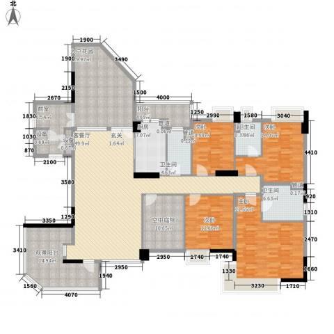 海畔嘉苑4室1厅3卫1厨208.00㎡户型图
