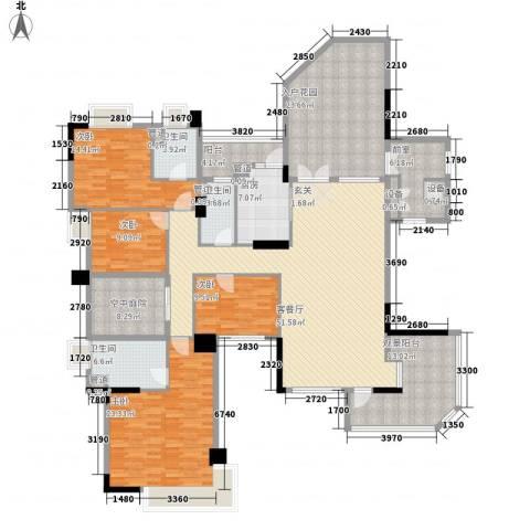 海畔嘉苑4室1厅3卫1厨204.00㎡户型图
