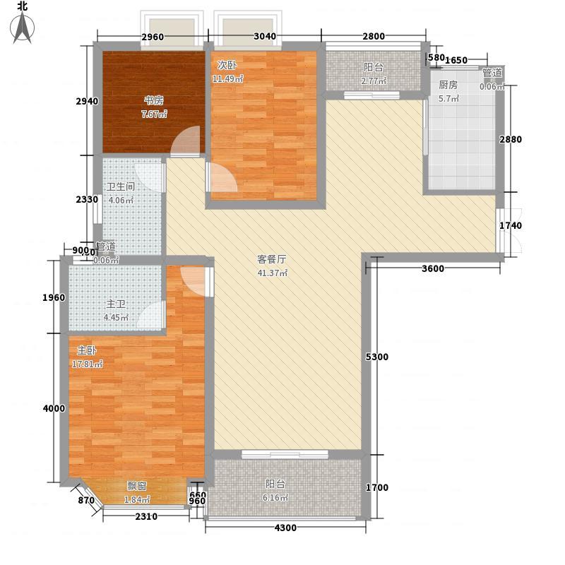 亚东观云国际公寓140.00㎡B1面积14000m户型