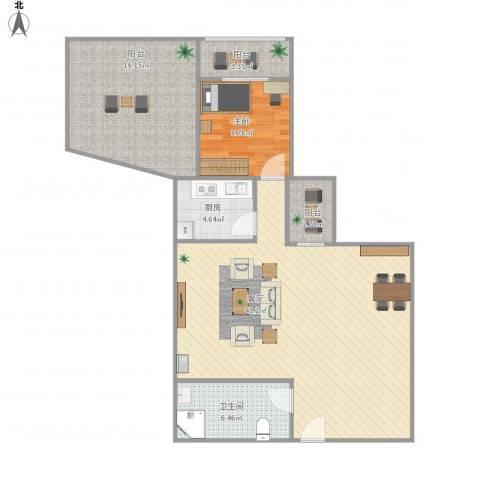 朝内南小街1室1厅1卫1厨111.00㎡户型图