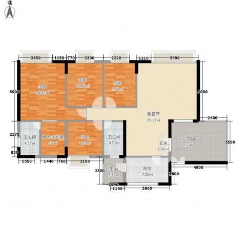 益利名门花园4室1厅2卫1厨155.00㎡户型图