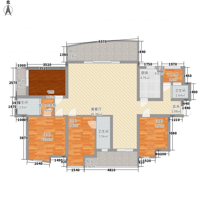 星海湾163.00㎡高层D户型5室2厅3卫