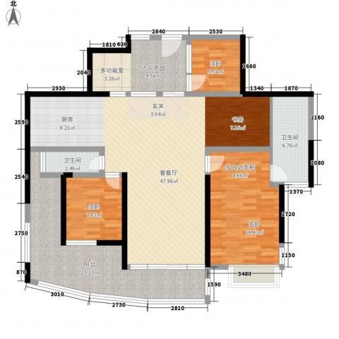 圣莫丽斯3室1厅2卫0厨166.00㎡户型图