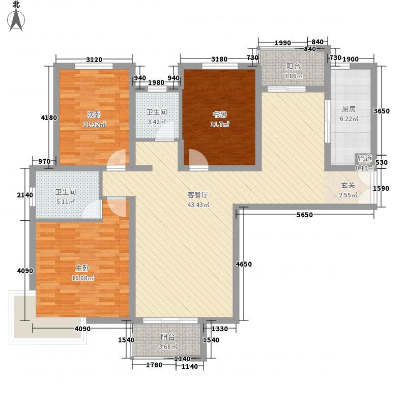 莞都国际花城149.00㎡莞都国际花城3室户型3室