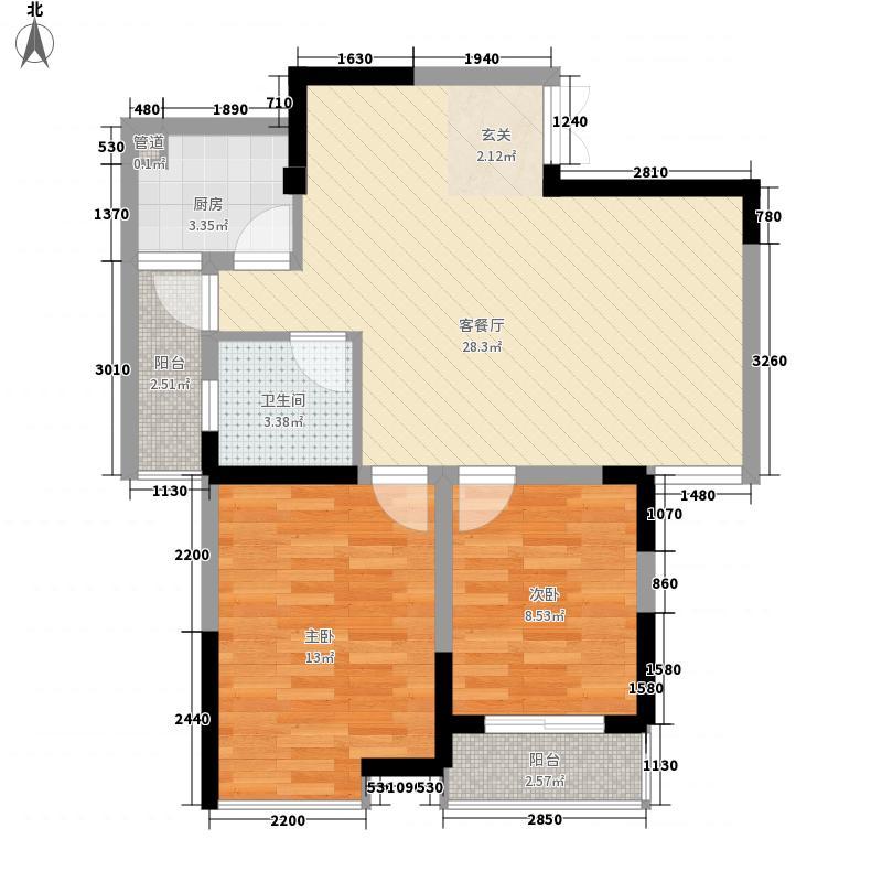 纪元阳光帝景88.00㎡纪元阳光帝景户型图A2、A32室2厅1卫1厨户型2室2厅1卫1厨