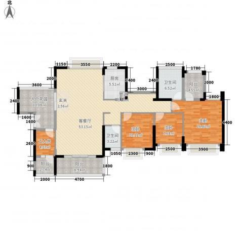 星河・丹堤3室1厅2卫1厨181.00㎡户型图