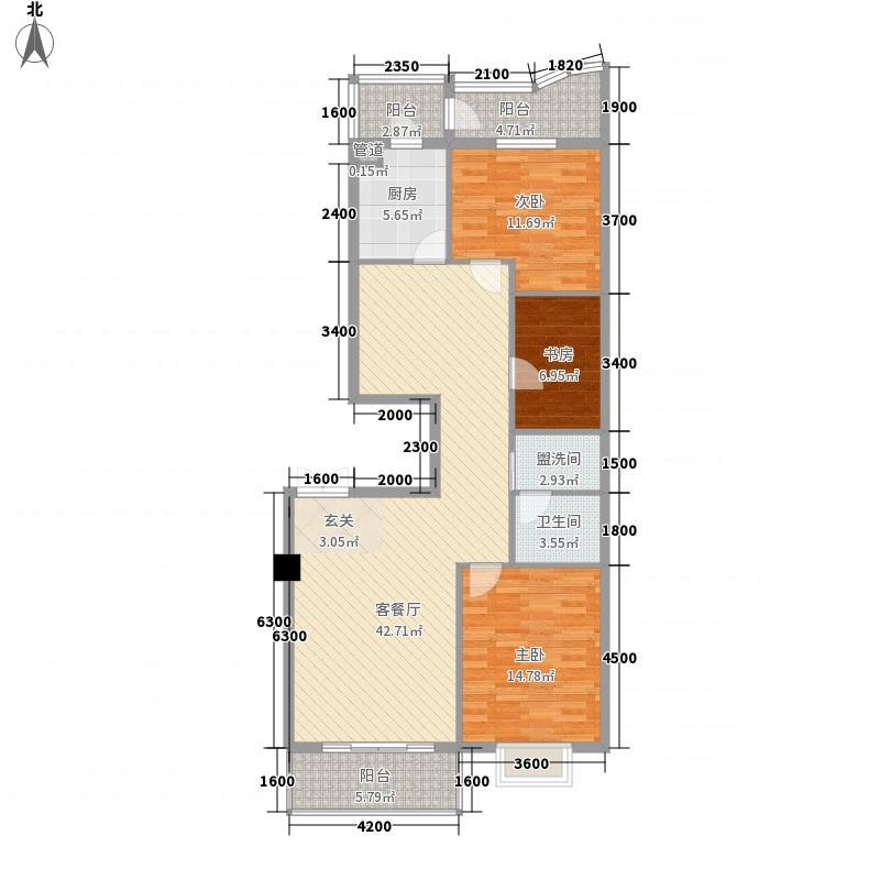 玉麟大厦136.20㎡玉麟大厦户型图3室2厅1卫户型10室