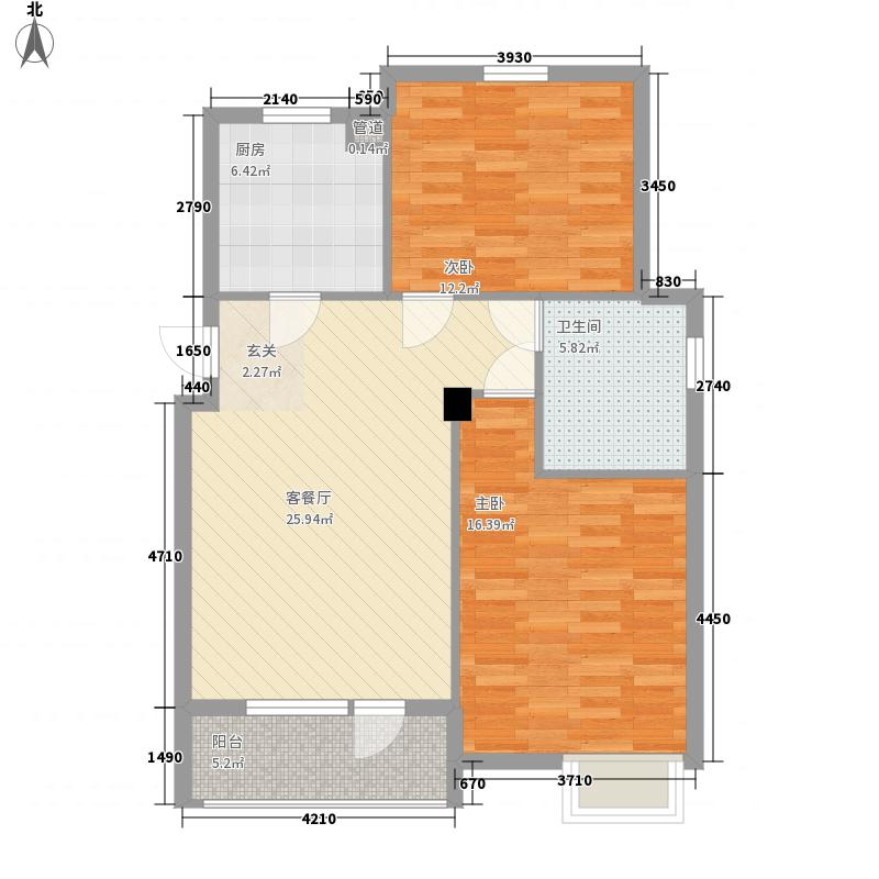 铜陵南村80.00㎡铜陵南村2室户型2室