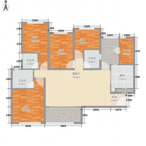 恒大雅苑4室1厅3卫1厨166.00㎡户型图