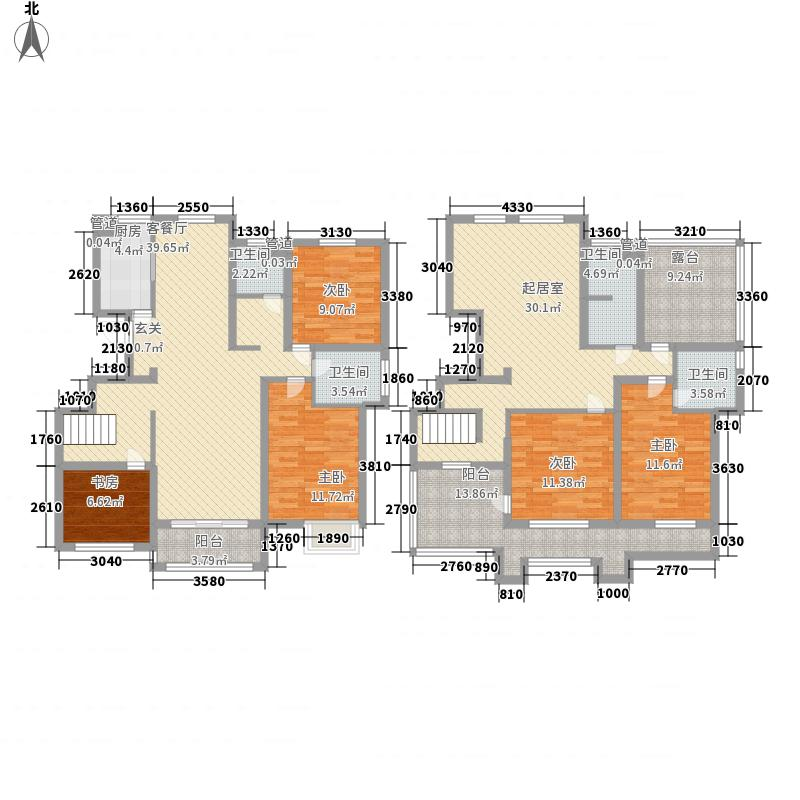 晶龙湾名苑249.00㎡晶龙湾名苑户型图C3户型5室3厅3卫1厨户型5室3厅3卫1厨