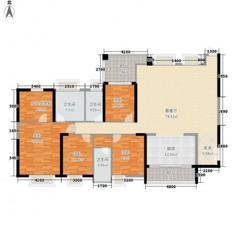 新世纪豪园第一居4室1厅3卫0厨503.00㎡户型图