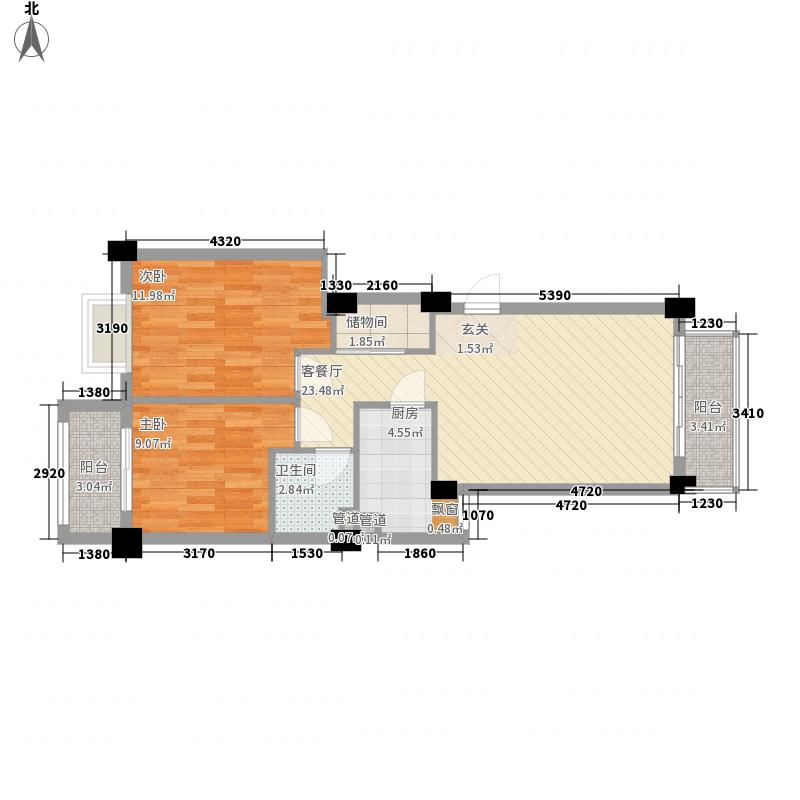 金辉莱茵城二期84.00㎡金辉莱茵城二期户型图03单元户型2室2厅1卫1厨户型2室2厅1卫1厨