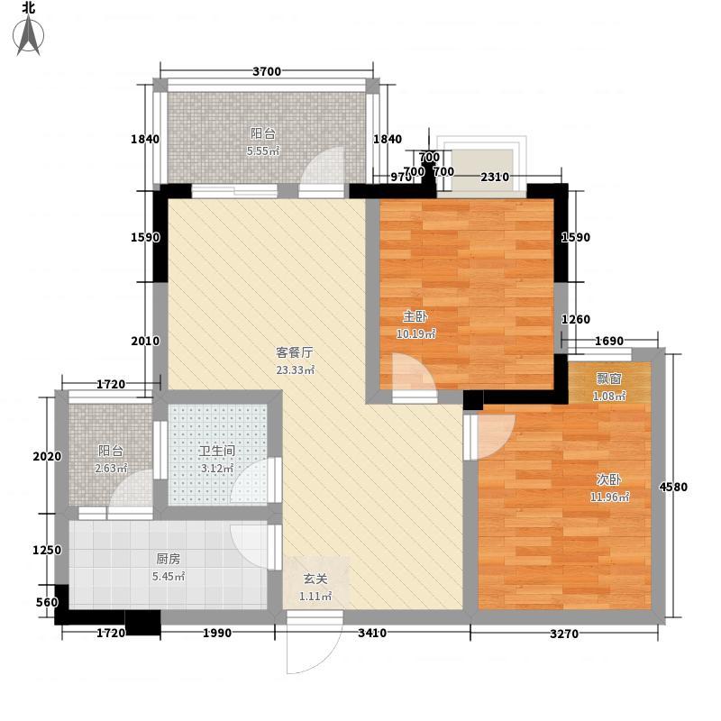 景茂名都115.74㎡1、5号楼A7户型3室2厅2卫1厨