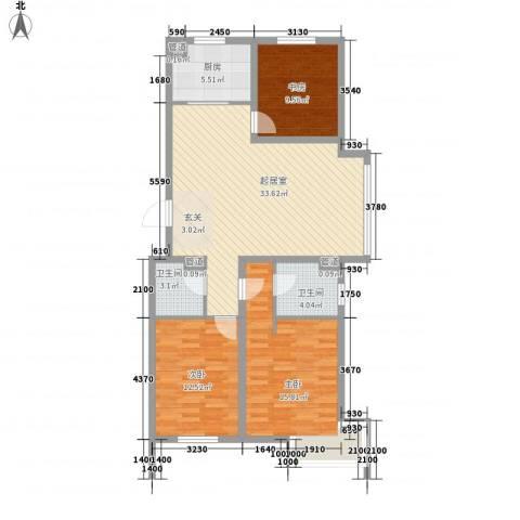 格林常青藤3室0厅2卫1厨120.00㎡户型图