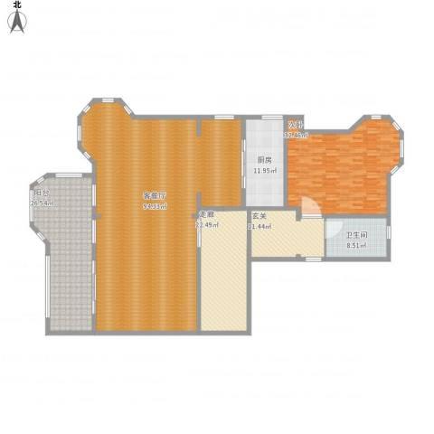 常熟香榭丽墅1室1厅1卫1厨281.00㎡户型图