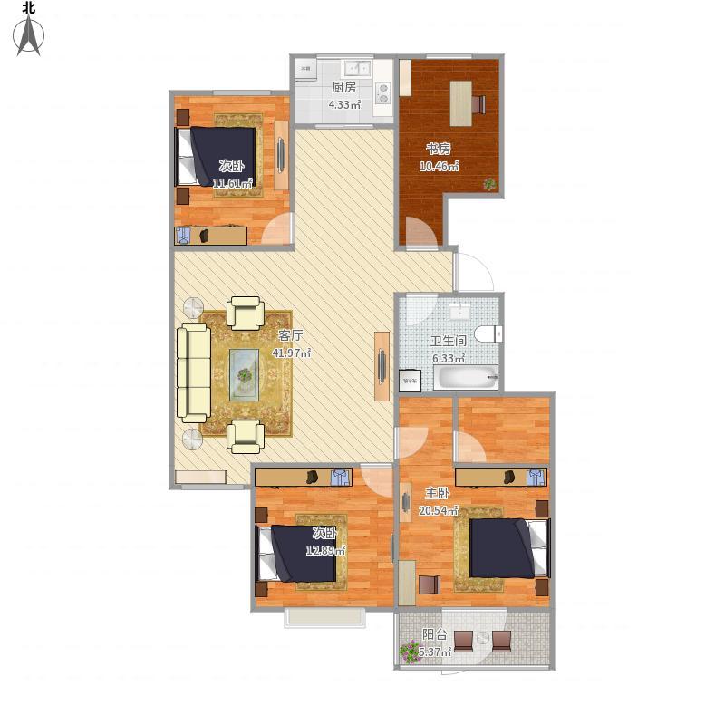 林场5号楼B区C装修140平方