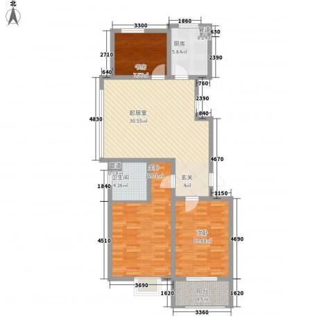 文昌雅苑3室0厅1卫1厨96.57㎡户型图