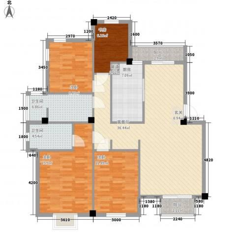 彩虹四季4室1厅2卫1厨144.00㎡户型图