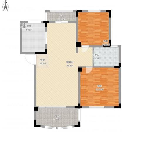 奇瑞龙湖湾2室1厅1卫1厨162.00㎡户型图