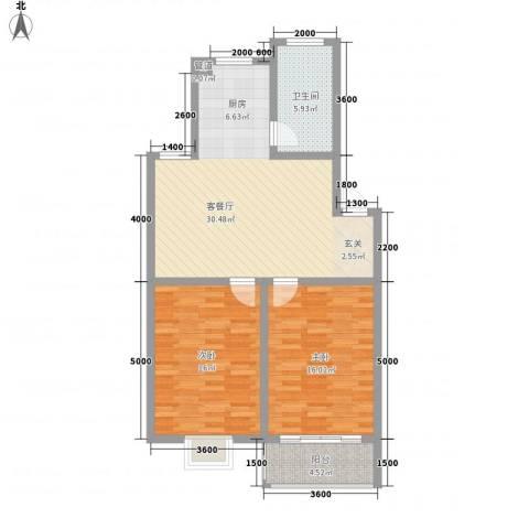 上林苑2室1厅1卫0厨90.00㎡户型图
