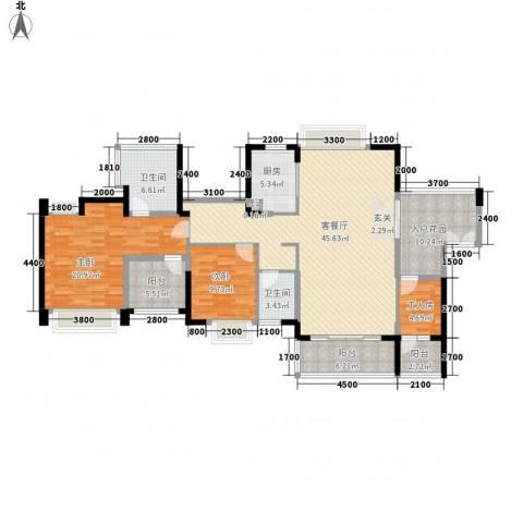 星河・丹堤2室1厅2卫1厨173.00㎡户型图