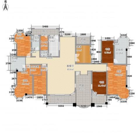 优山美地5室1厅4卫1厨338.00㎡户型图