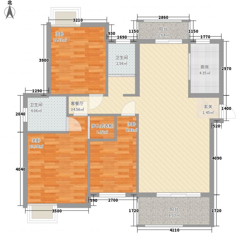 朝阳峰汇124.24㎡1#高层A1户型3室2厅2卫