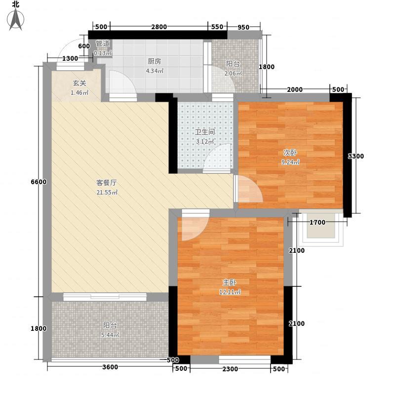 美乐广场一期一批次5号楼标准层B4户型