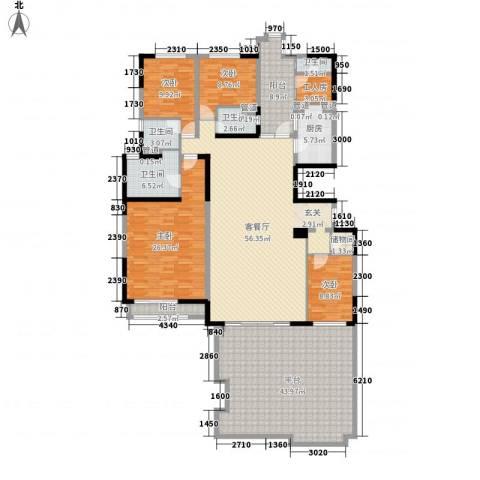 碧桂园凤凰城4室1厅4卫1厨267.00㎡户型图