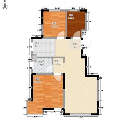 宇都和源3室1厅1卫1厨59.79㎡户型图