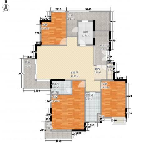 恒大雅苑3室1厅2卫1厨193.00㎡户型图