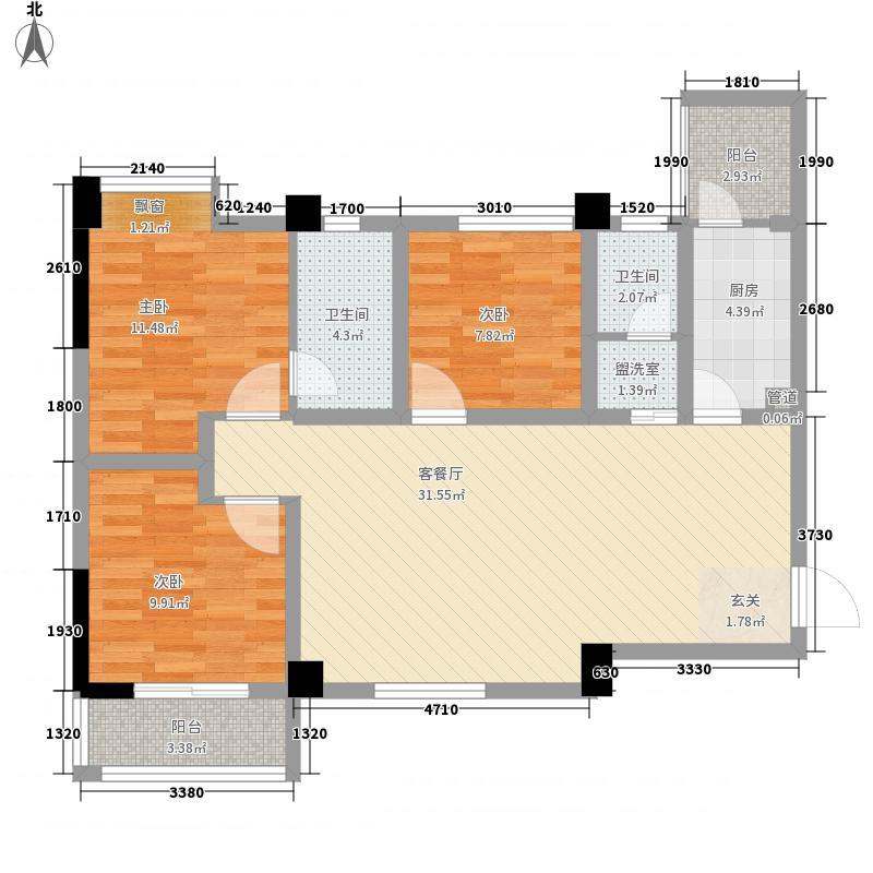 龙湖尚城一期1号楼标准层D2户型