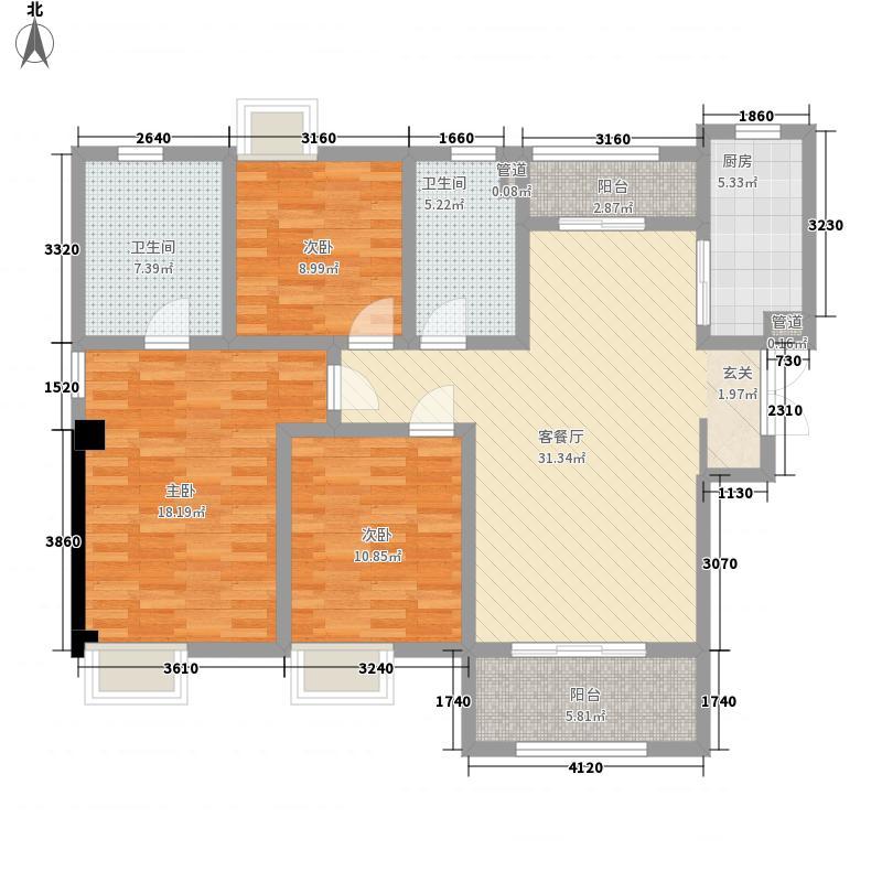 吴中豪景华庭140.24㎡吴中豪景华庭户型图D1户型3室2厅2卫1厨户型3室2厅2卫1厨