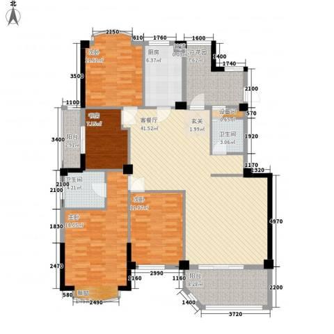 公园道1号三期4室1厅2卫1厨143.00㎡户型图