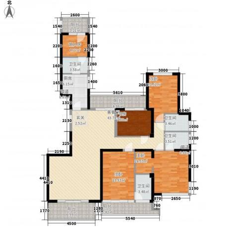公园道1号三期4室1厅4卫1厨200.00㎡户型图