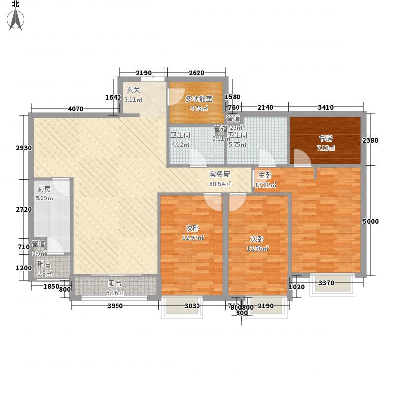 富力城B区05户型4室2厅2卫1厨