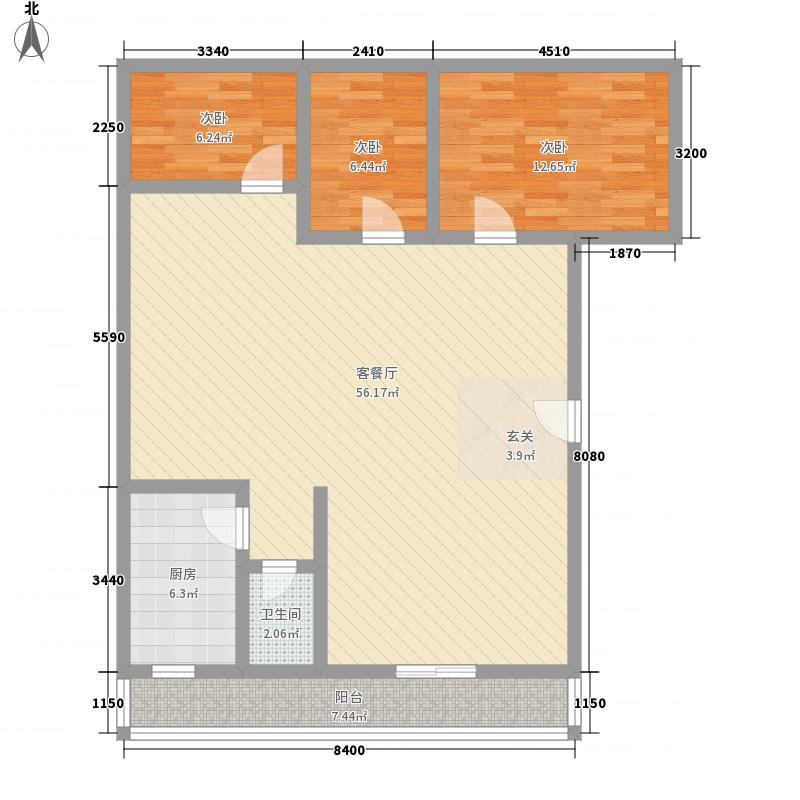 省直家园138.00㎡户型3室
