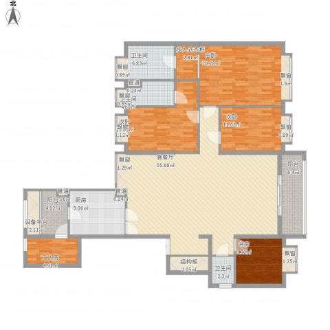 方圆月岛4室1厅3卫1厨219.00㎡户型图