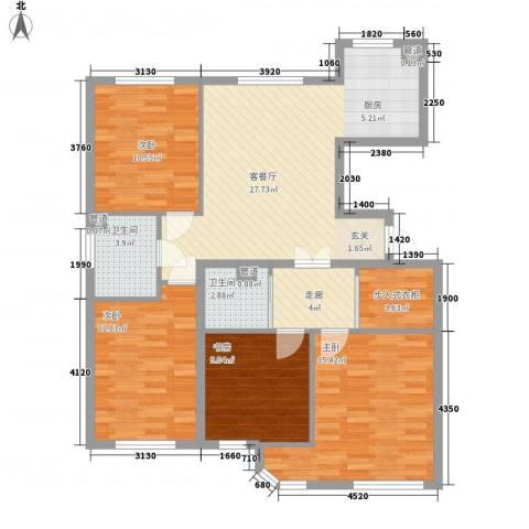万亿香橙4室1厅2卫0厨127.00㎡户型图