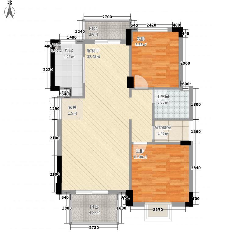 云景苑8.20㎡一期小高层c户型3室2厅1卫1厨