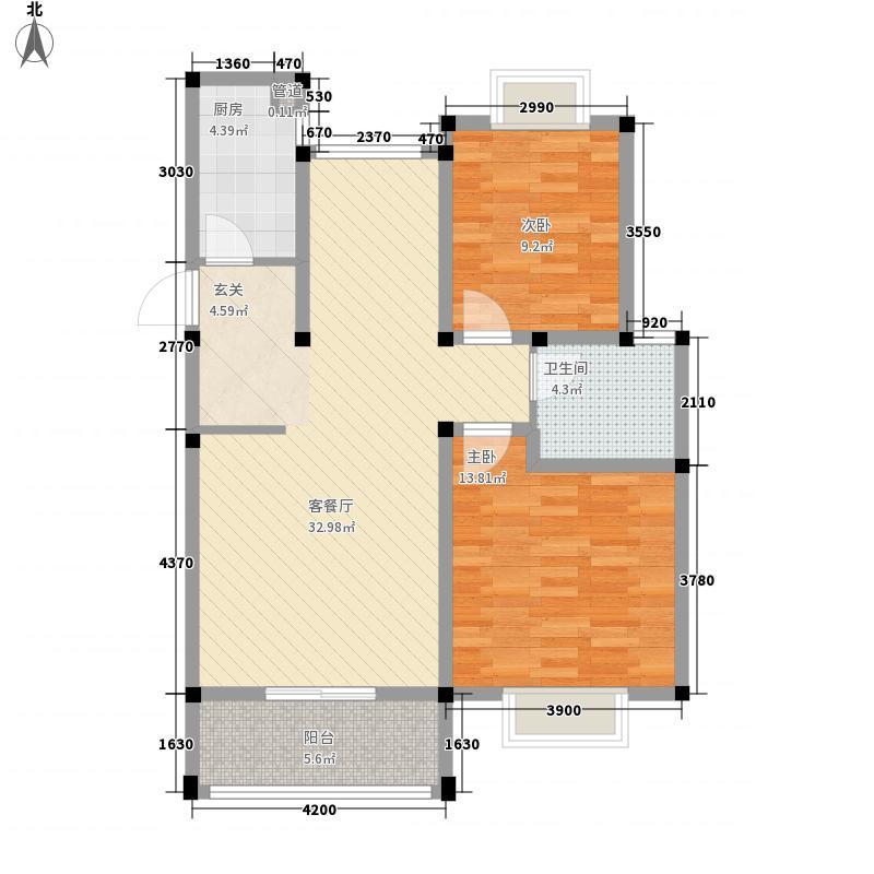 铜陵东村70.00㎡物资回收公司宿舍户型2室1厅1卫1厨
