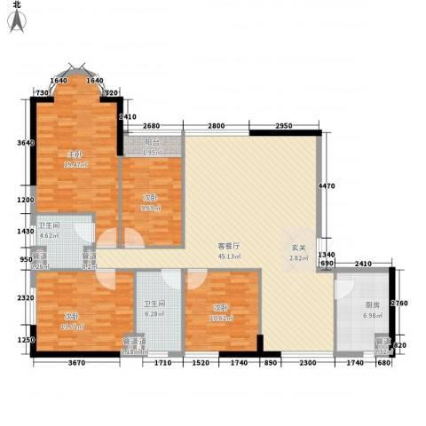 天翔花园4室1厅2卫1厨165.00㎡户型图