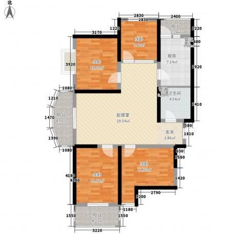 莱茵香榭4室0厅1卫1厨130.00㎡户型图